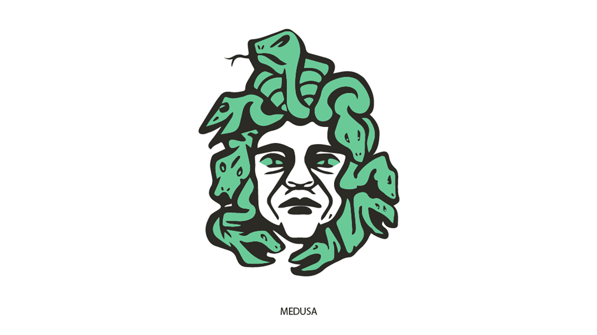 This project involved making a symbol based on Medusa. This project involved mind mapping, lots of sketch ideas, and different colour combinations in order to find the perfect symbol. The end result is a stern looking Medusa in black and green.