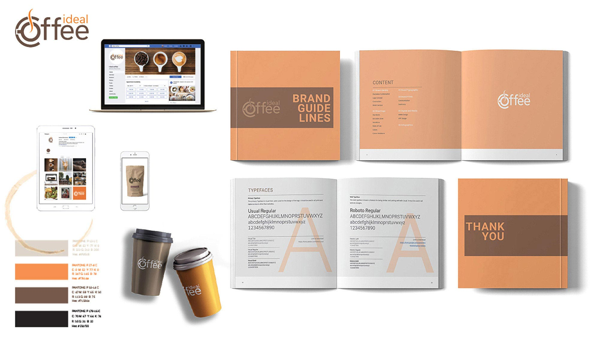 Brand Guidelines and Logo Redesign for Ideal Coffee
