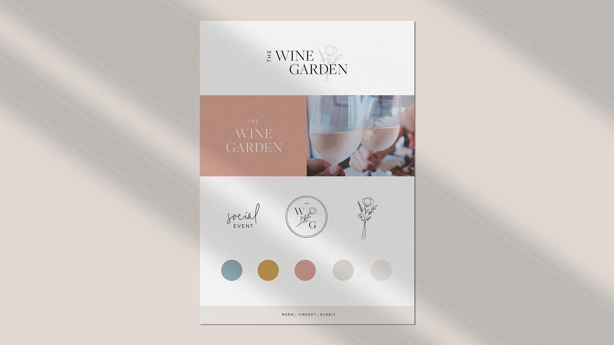 A vibrant & bubbly brand was designed for this wine tasting experience along with a web design that was developed to improve the event's online presence. Creative direction was also given for social media accounts and any promotional packaging.