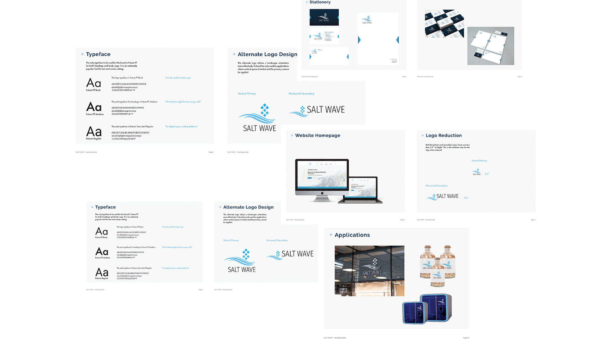 """Transformed a new designed logo into a new whole branding project by applying the logo into a variety of elements like """"Digital Online presence, Website, Stationary Package, Posters and Merchandise."""