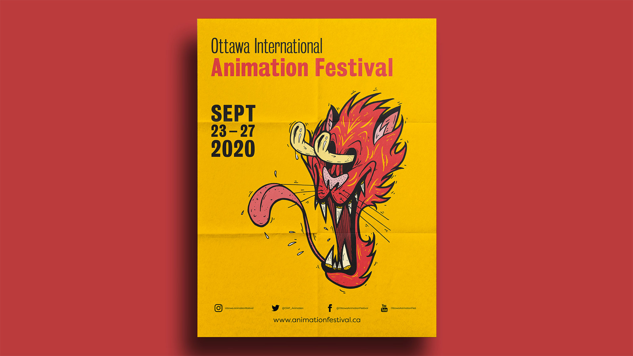In this project I had to create a festival guide, along with a poster on the inside. The illustration was inspired by cartoons like Ren & Stimpy, in this case I went with a tiger character.