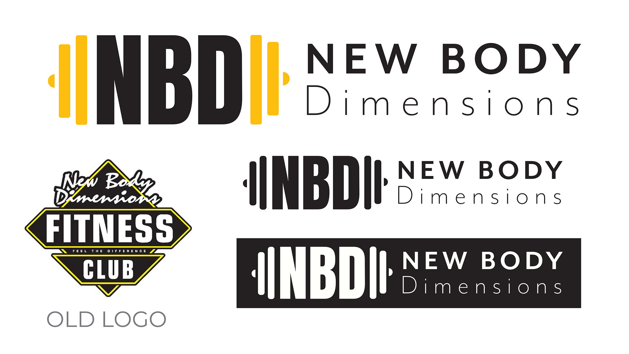 New Body Dimensions Fitness Club that is located in Ottawa and was established in 1998. Their current logo is outdated and busy. I decided to create a more minimalistic logo that the audience will understand that is a gym and not something else.