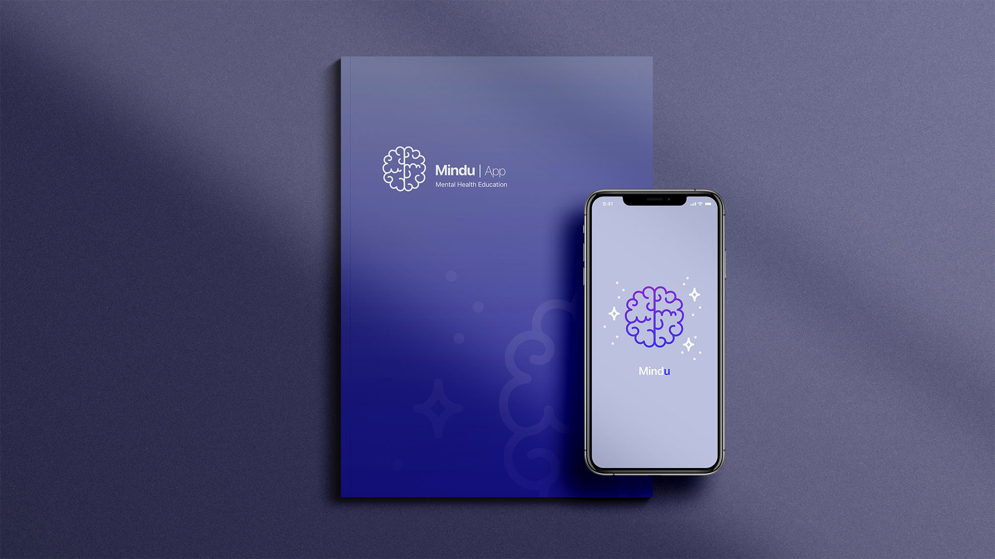 Branding and UX/UI design for an interactive educational mobile app prototype that addresses mental health and wellness.