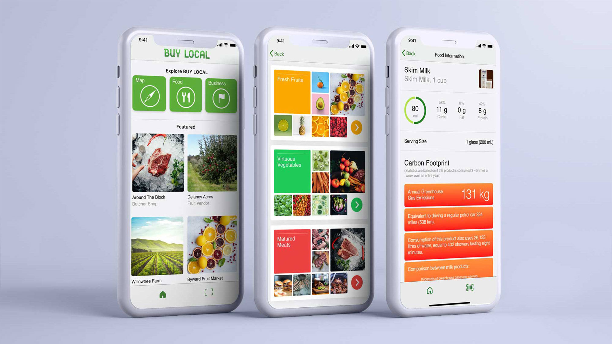 This app design helps solve a United Nation's Sustainable Development Goal #13 directed towards Improving Climate Action. It helps local people find locally sourced food and lessens their carbon footprint.