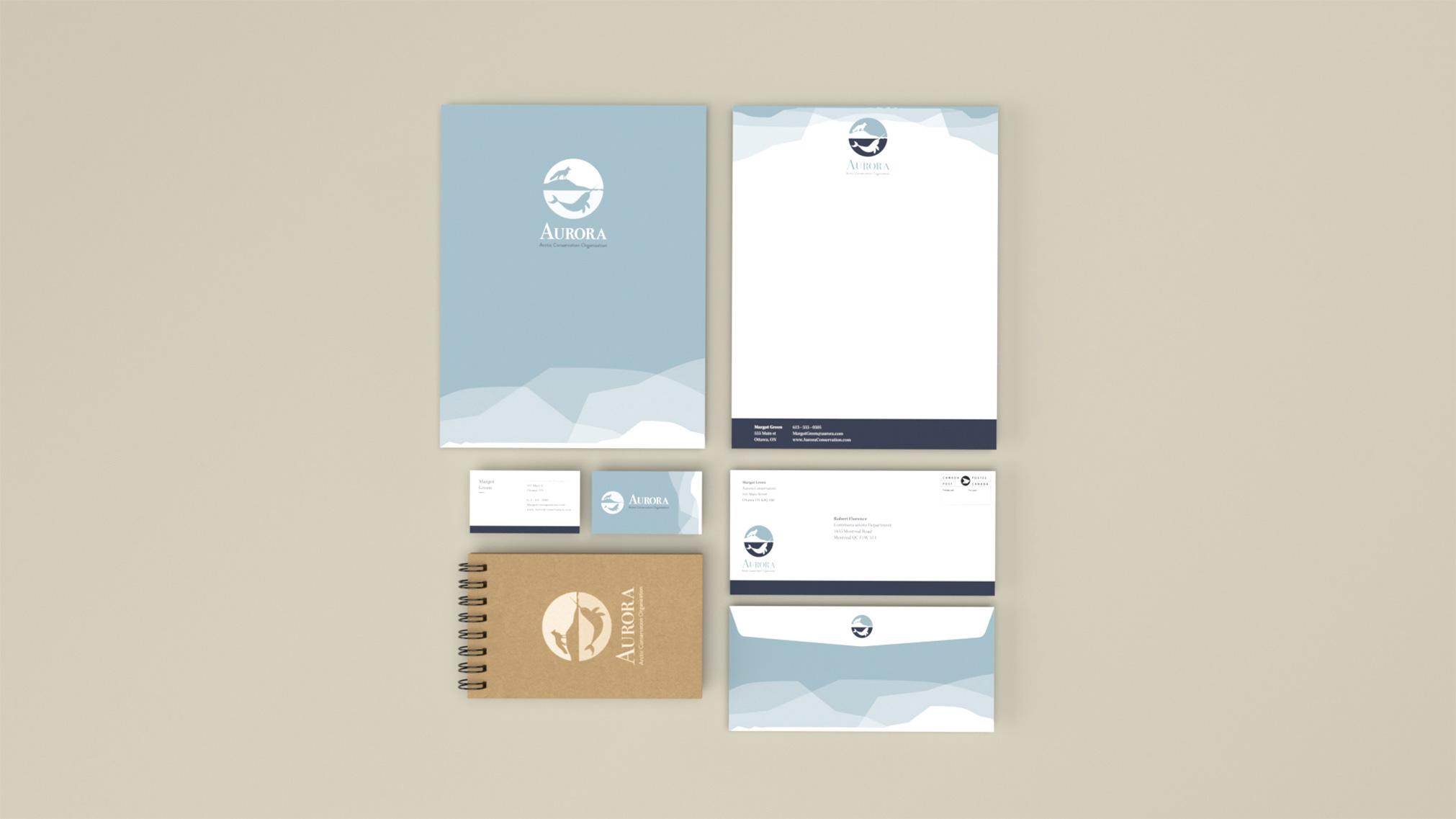 For this project, I did a full branding overhaul. I created a new logo and an animated version of it, a full stationery package, and wireframes for their website.