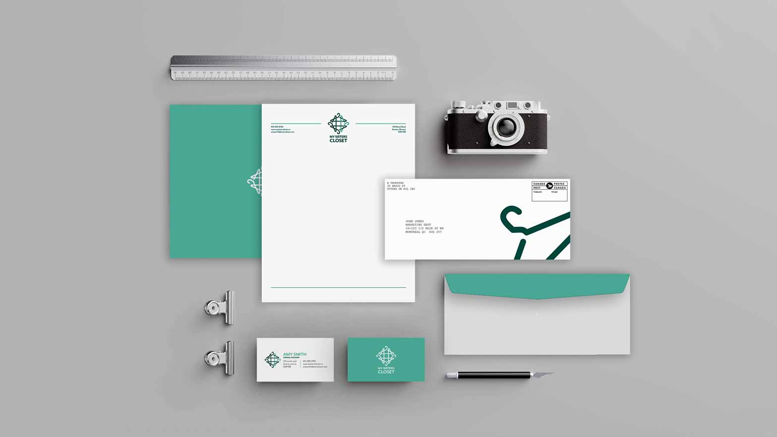 This project was a re-branding for a local store in my area, including a new logo, a full stationary package and branding guide.