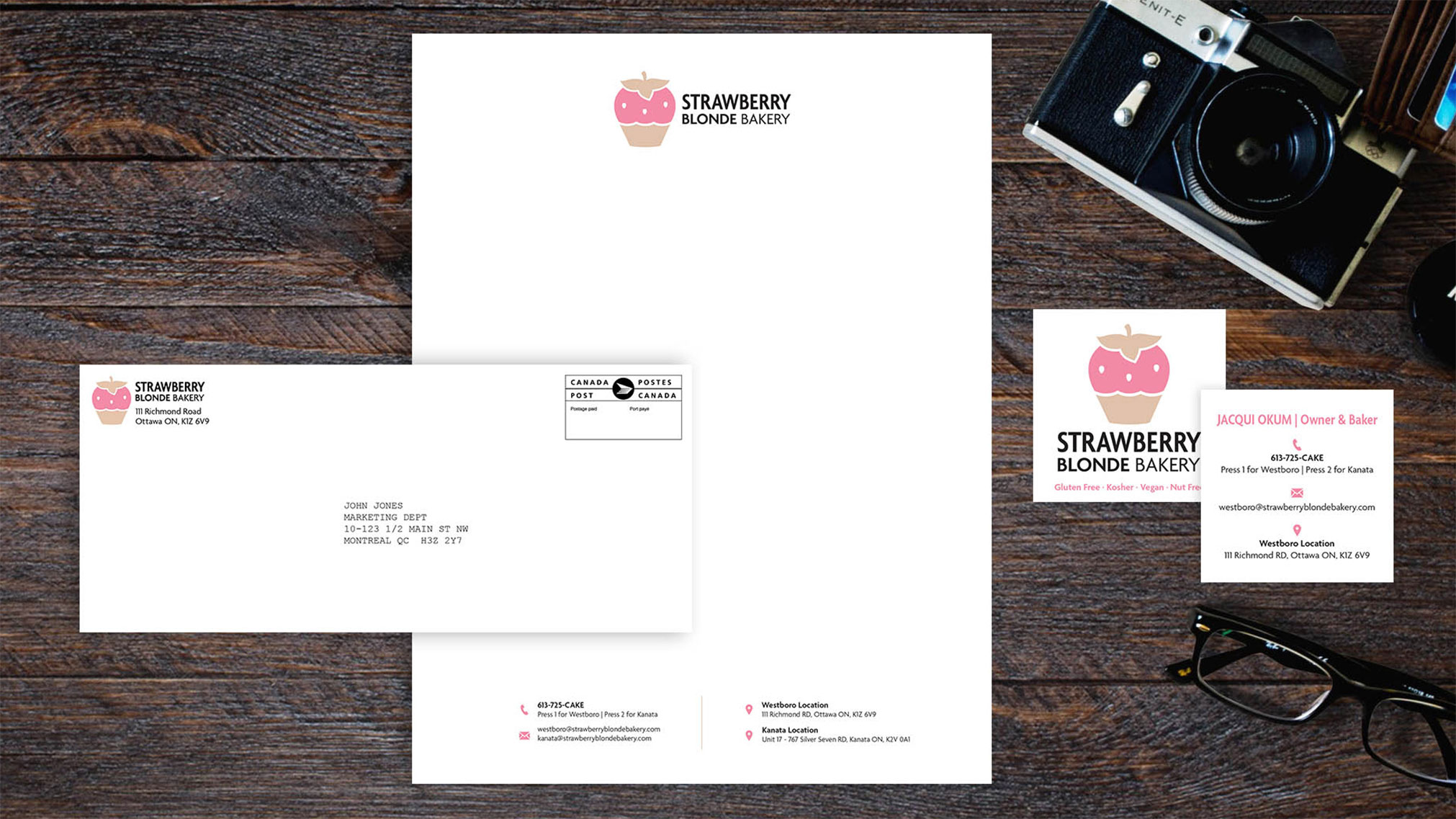 This is a project of mine where I was challenged to remake an existing logo and brand. I reached out to Strawberry Blonde and began to research and sketch ideas to better represent their brand.