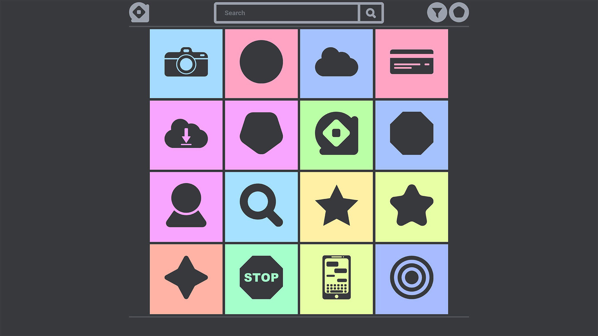 A stock iconography website marketed for graphic designers.
