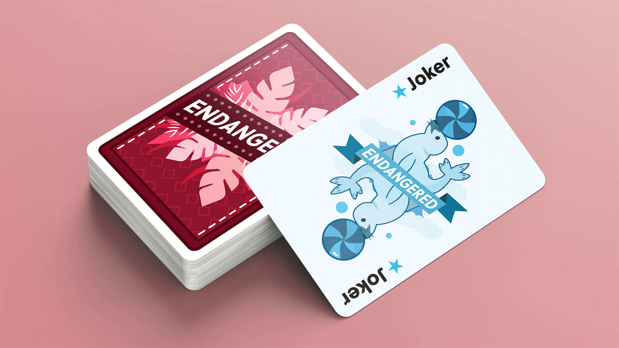 This playing card set has over 13 unique animal illustrations, die-lines for the package and Ar card functionality. The goal of this was to allow kids to interact with the animals.