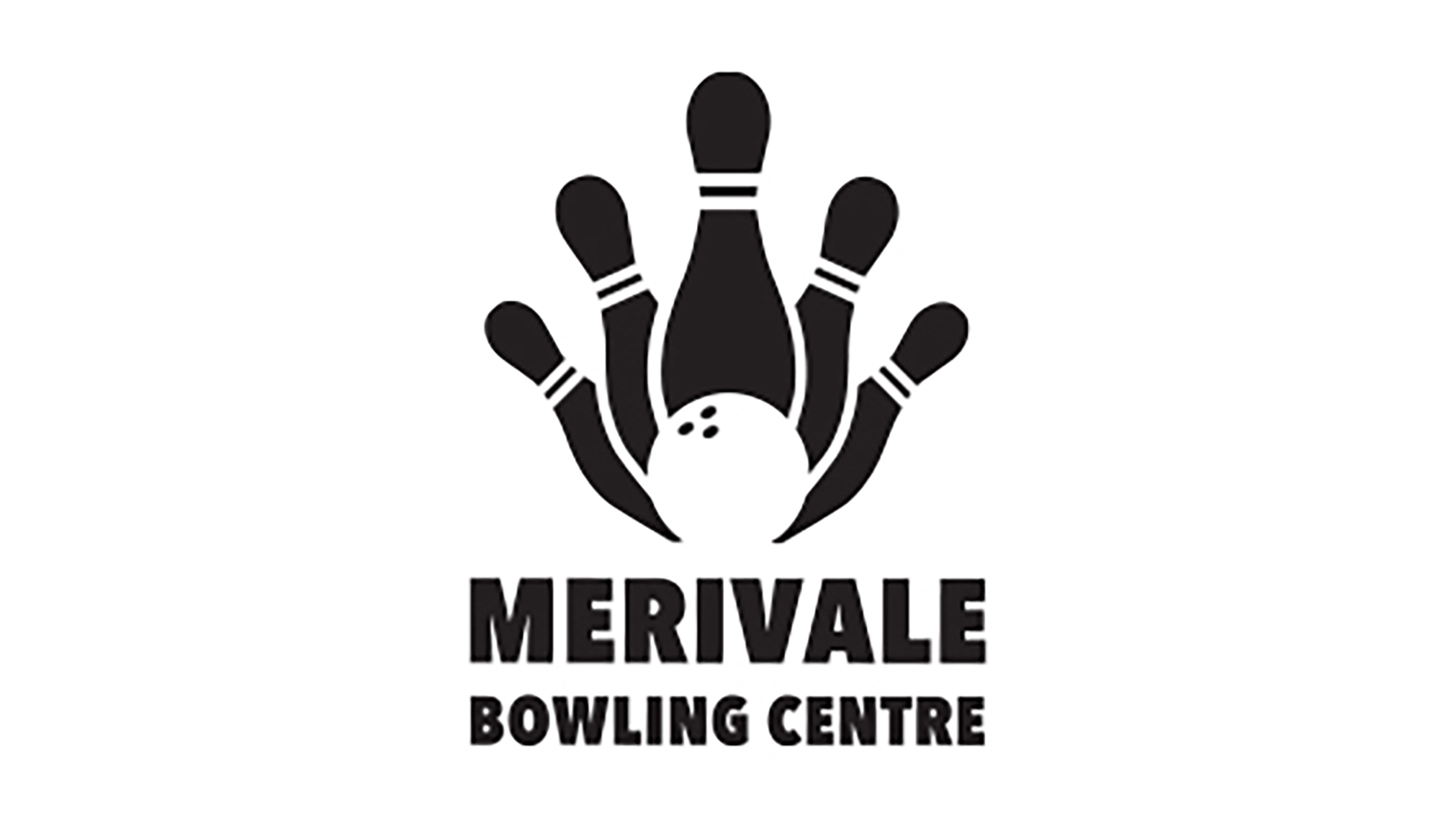 The colours chosen in this logo design were kept simple, black and white. As Merivale Bowling Centre is a glow-in-the-dark bowling alley, having a black and white logo will make their logo interact with the glow in the dark feature. For example, a white logo will glow when in a black light. Introducing a monochromatic design helps create a greater sense of professionalism than a more colourful ensemble would.