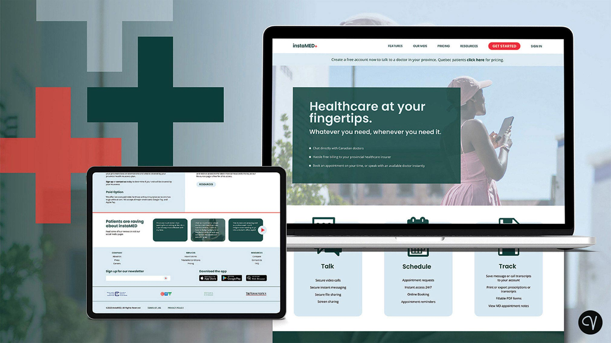 Prior to COVID-19, this SaaS concept was created for a fictional at-home healthcare company called instaMED. Recently, it was redesigned with better UI and UX in mind.